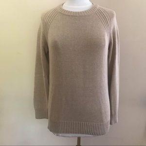 JEANNE PIERRE heavy cotton sweater size L